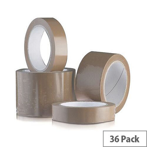 Vinyl Tape Bulk Pack 48mm Brown Pack of 36
