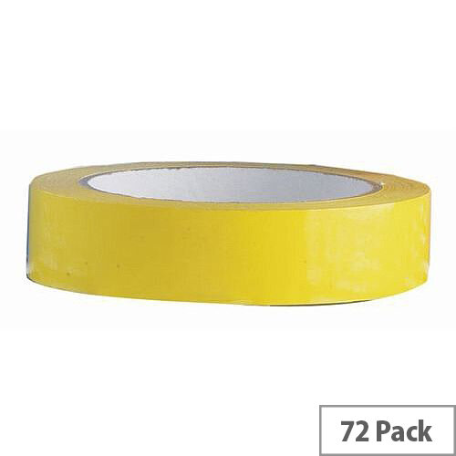 Vinyl Tape Bulk Pack 24mm Yellow Pack of 72