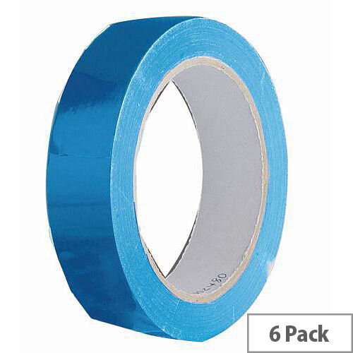 Vinyl Tape Regular Pack 48mm Blue Pack of 6