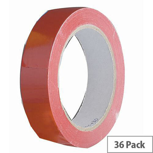 Vinyl Tape Bulk Pack 48mm Red Pack of 36