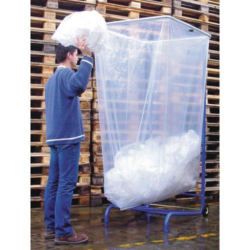 Large Capacity Bin Liner Rubbish Bags 1500L HxWxL 2000x1100x600 Pack of 40