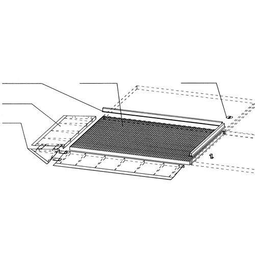 Low Profile Galvanised Sump Flooring Connecting H x W x L mm: 30 x 55 x 2850
