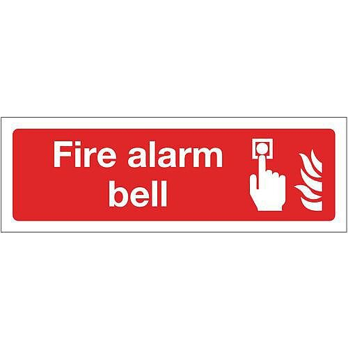 Self Adhesive Vinyl Fire Alarm Bell Sign