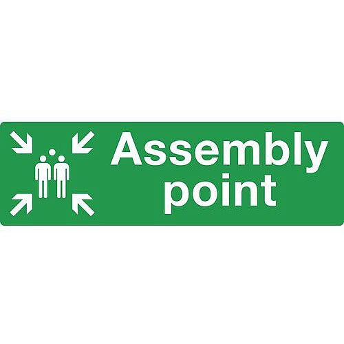 Self Adhesive Vinyl Assembly Point Sign