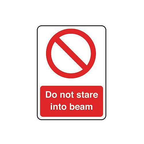Laser And Radiation Sign Do Not Stare Into Beam Hxw 75X100Mm