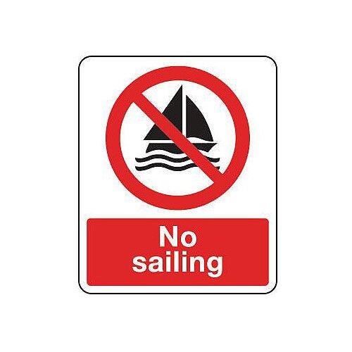 Self Adhesive Vinyl National Water Safety Sign No Sailing