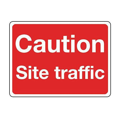 Self Adhesive Vinyl General Construction Sign Caution Site Traffic