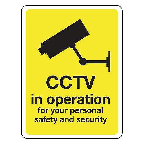 Cctv Is In Operation For Your Personal Safety And Security Hxw 75X100Mm