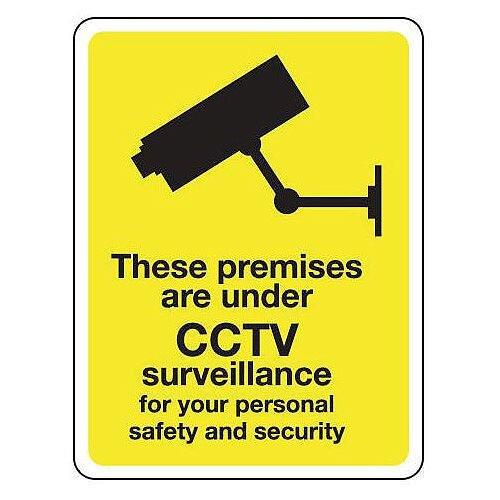 These Premises Are Under Cctv Surveillance Hxw 75X100Mm