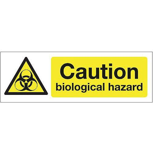 Self Adhesive Vinyl Chemical And Substance Hazards Sign Caution Biological Hazard