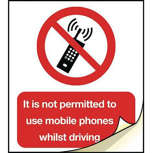General Safety Labels No Mobile Phone Roll of 100
