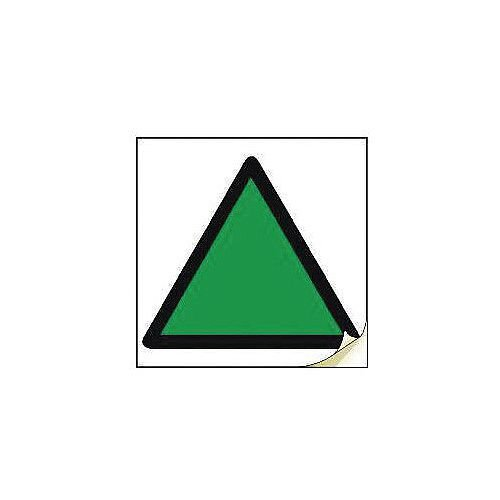 Hand Arm Vibration Safety Labels Green Triangle Strip Of 20