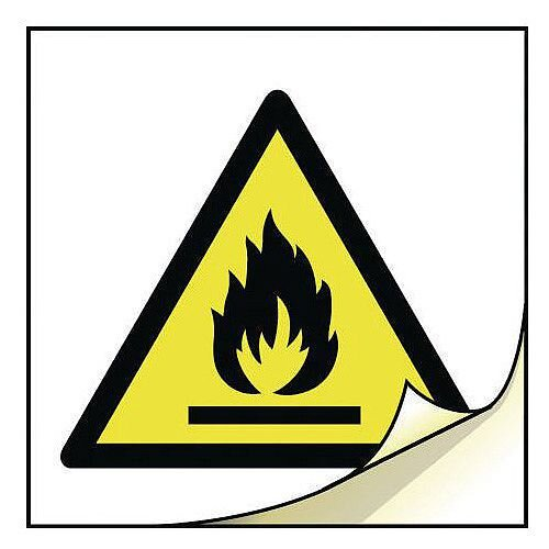 General Safety Labels Highly Flammable Roll of 100