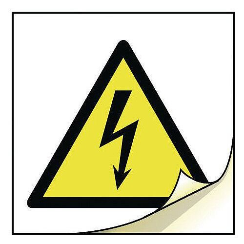 General Safety Labels Risk Of Electric Shock Roll of 100