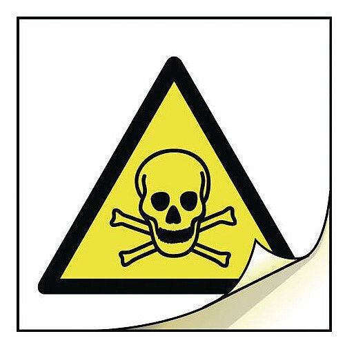 General Safety Labels Toxic Roll of 50