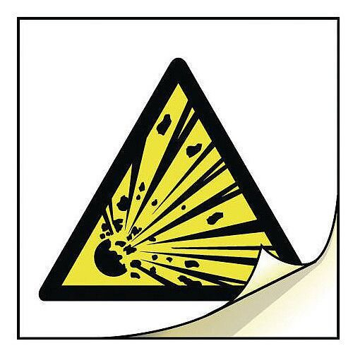 General Safety Labels Explosive Roll of 100