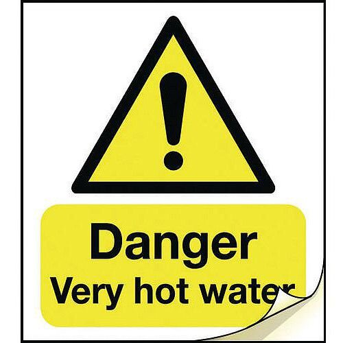 General Safety Labels Danger Very Hot Water Roll of 50