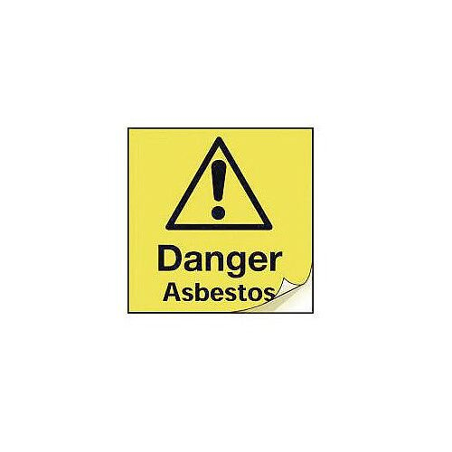 Asbestos Safety Labels Danger Asbestos Strip Of 50