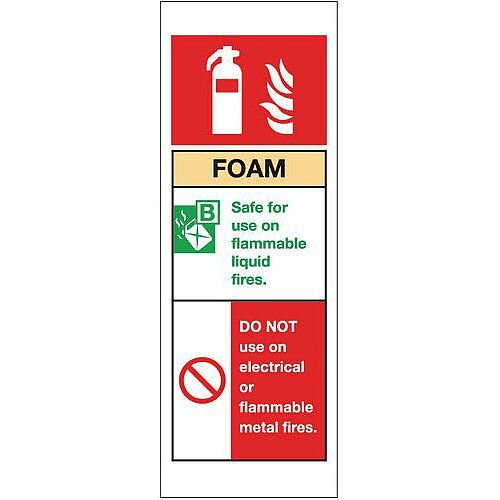Self Adhesive Vinyl Fire Extinguisher Sign Foam