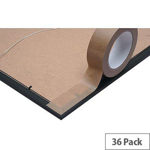 Self Adhesive Kraft Tape 50mm X 50M Pack of 36