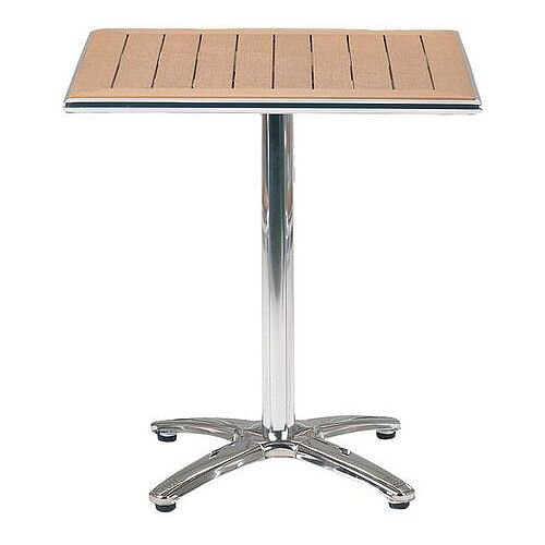 Slatted Cafe Furniture Table Rectangular Top Table