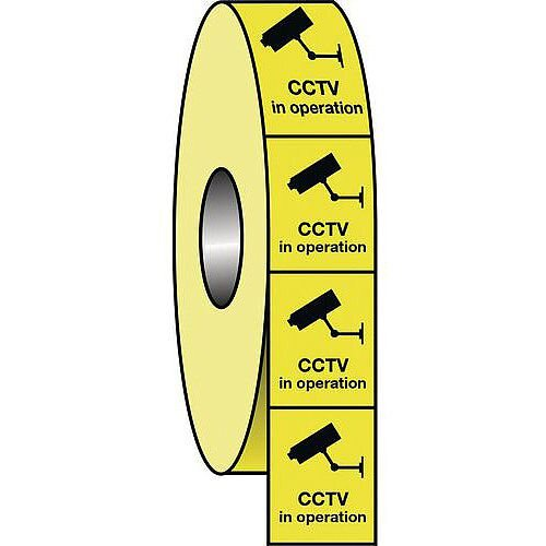 Cctv Labels Roll of 1000