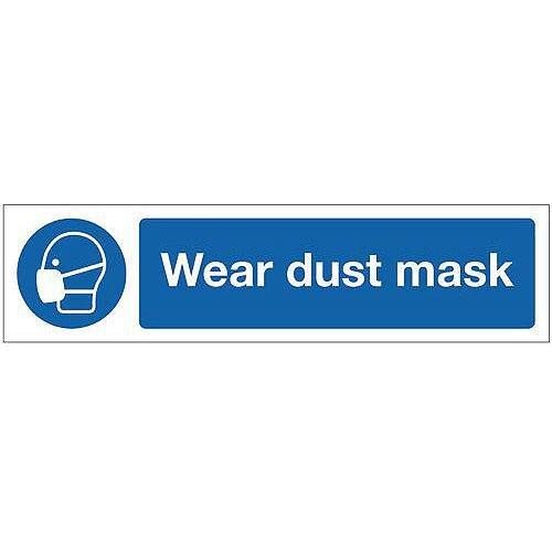 Aluminium Mini Mandatory Safety Sign Wear Dust Mask
