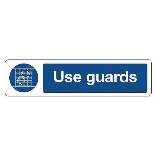 Rigid Plastic Mini Mandatory Safety Sign Use Guards
