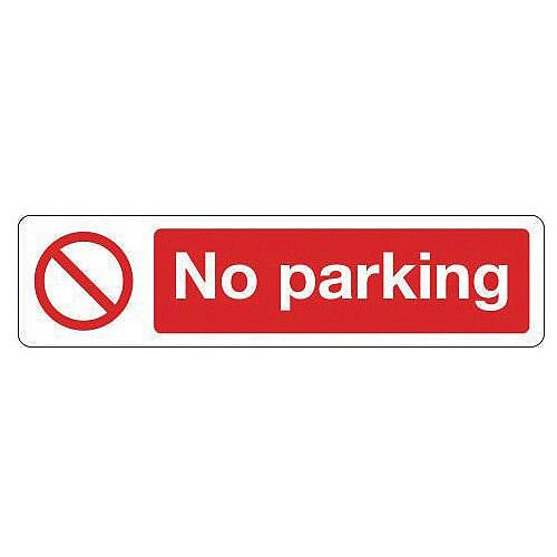 Rigid Plastic Mini Prohibition Sign No Parking