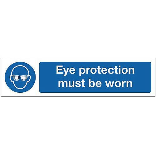 Vinyl Mini Mandatory Safety Sign Eye Protection Must Be Worn