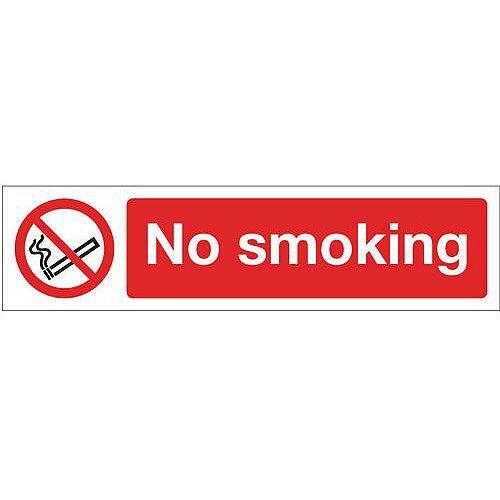 Vinyl Mini Prohibition Sign No Smoking