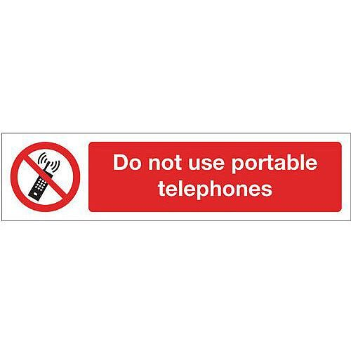 PVC Mini Prohibition Sign Do Not Use Hand Held Mobile Phones Whilst Driving