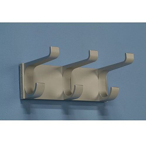 Aluminium Coat Rack 3 Hooks L 220mm