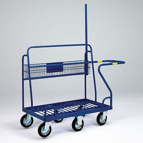 Large Panel Trolley With Basket Capacity 350kg LxWxH 1610x700x1238mm