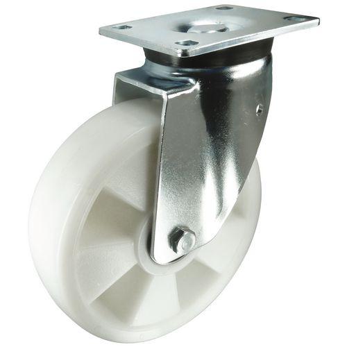 Ball Bearing Nylon Wheel, Heavy Duty - Swivel Load Capacity 500kg