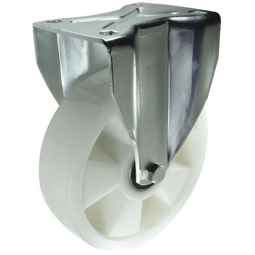 Ball Bearing Nylon Wheel, Heavy Duty - Fixed Load Capacity 500kg
