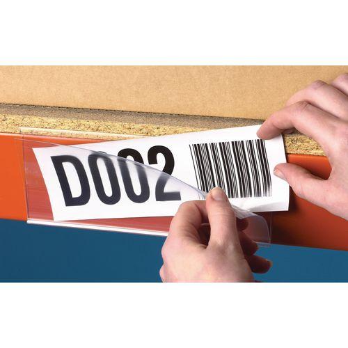 Self Adhesive Ticket Holder HxWmm 25x200 Pack of 50