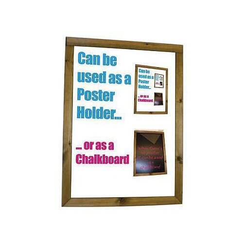 Dark Oak Poster Holder &Chalkboard A4