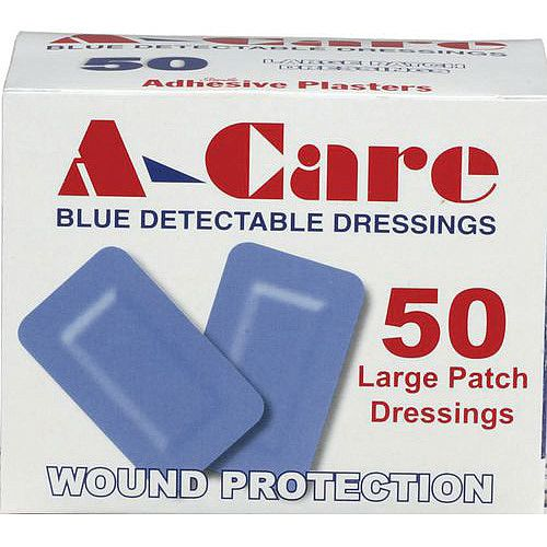 Food Industry Plasters Large Patch Pack of 50
