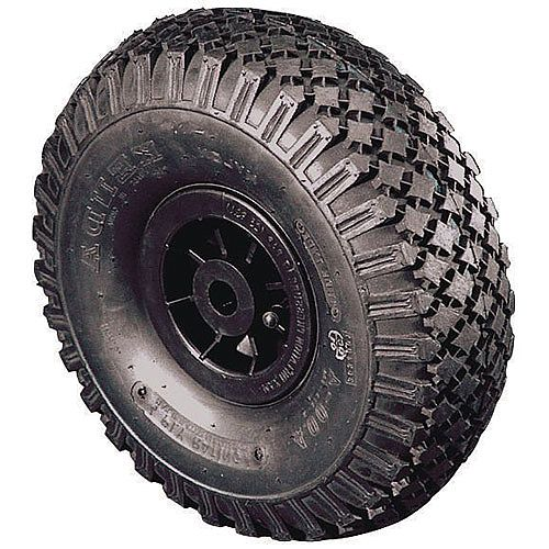 Polypropylene Centre With Pneumatic Tyre Load Capacity 120kg Bore 25mm Roller Wheel Diameter 260mm