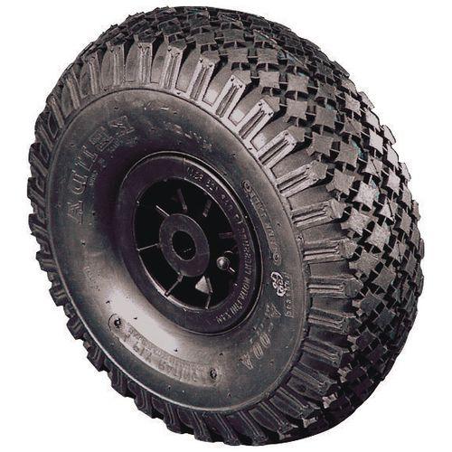 Polypropylene Centre With Pneumatic Tyre Bore 25.4mm Plain Wheel Diameter 355mm Load Capacity 185kg