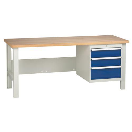 Medium Duty Workbench With 1 Triple Drawer Unit H840 x L1800 x D650mm