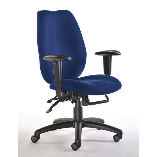 Deluxe Ergonomic High Back Task Operator Office Chair Blue