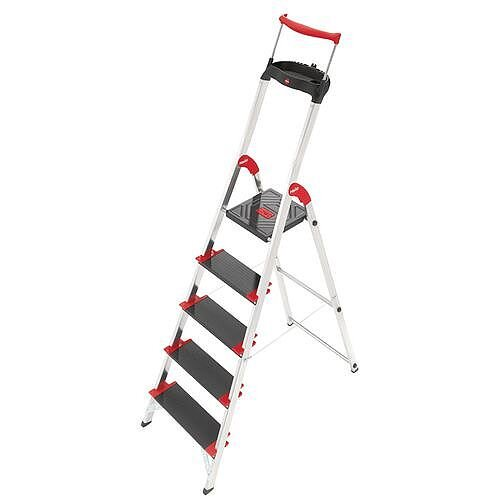 Deep Tread, Heavy Duty 5 Tread Step Platform Height 1.06M Capacity 225Kg