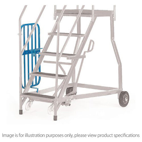 Heavy Duty Warehouse Steps Expanded Steel 7 Treads Max Height 2.61M Platform Height 1.61M