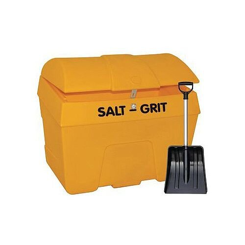 200L Grit Bin With Hasp And Shovel