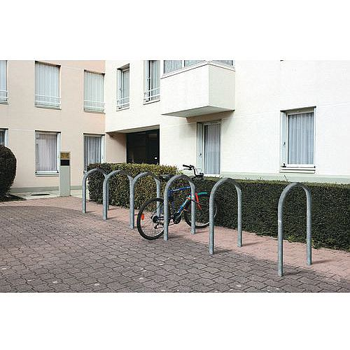 Sheffield Style Cycle Rack Galvanised silver