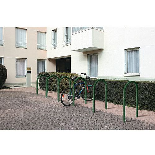 Sheffield Style Cycle Rack Green