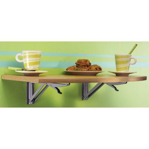 Wall Mounted Folding Table Medium Rectangular Rounded Edge 600x350mm