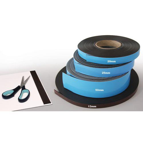 Magnetic Self-Adhesive Strip Wxl 25X10Mm